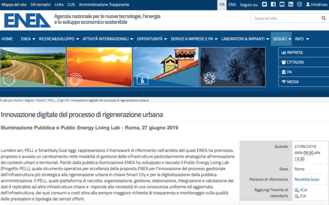 "WorkShop ""Illuminazione Pubblica e Public Energy Living Lab"""
