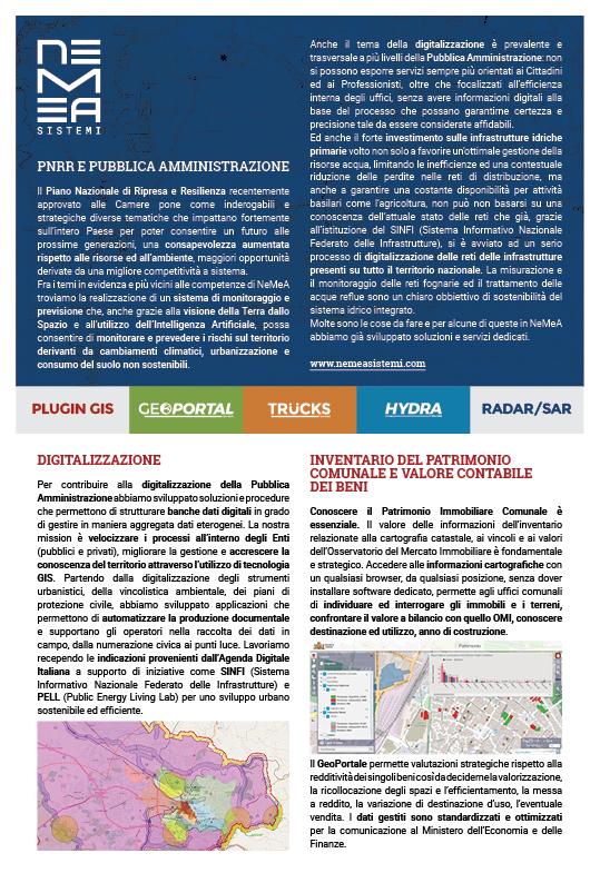 Nemea Sistemi - PNRR e digitalizzazione della Pubblica Amministrazione