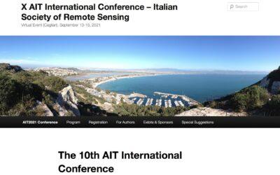 X AIT International Conference Italian Society of Remote Sensing